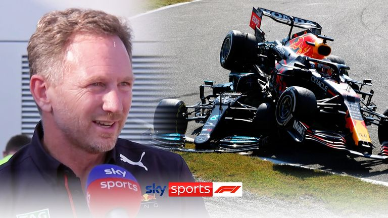 Red Bull team principal Christian Horner believes the collision between Max Verstappen and Lewis Hamilton was a racing incident.