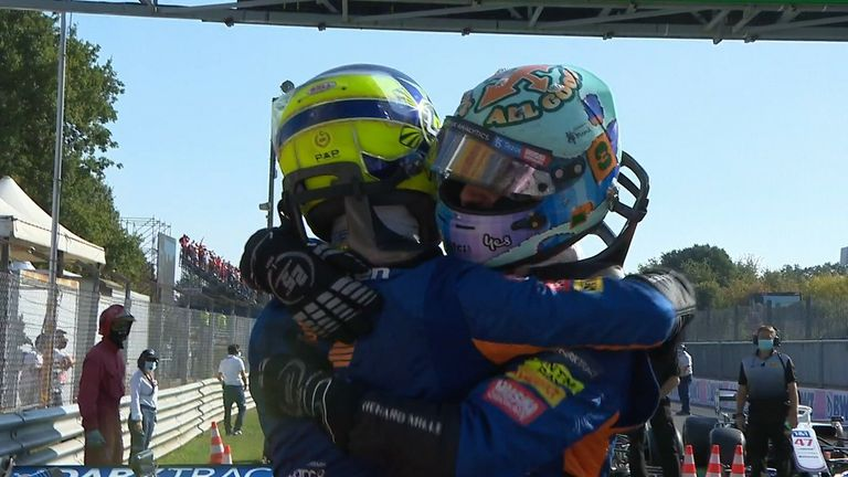 That winning feeling is back for Daniel Ricciardo as McLaren finish in the top two podium places.