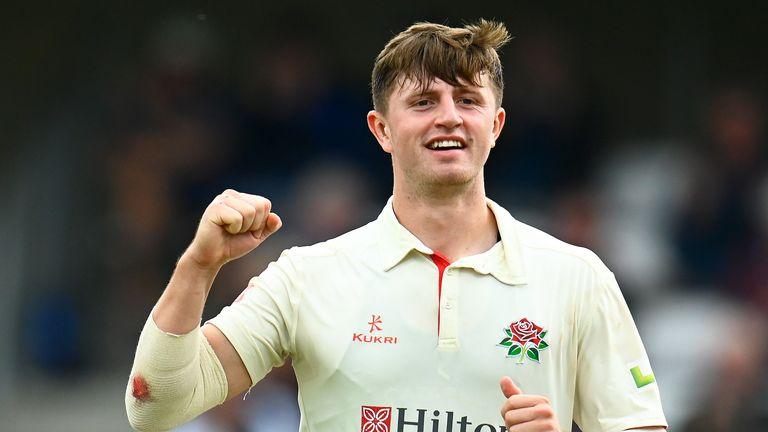 Jack Blatherwick took four wickets as Lancashire skittle Somerset for 90 at Taunton