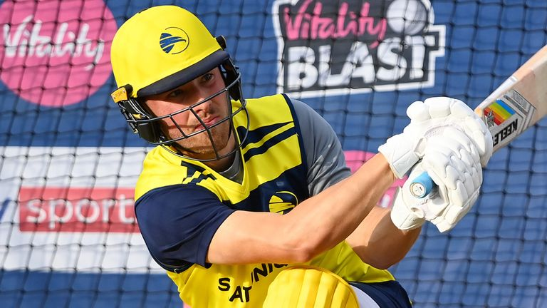 Only Vince (371) has scored more runs than the pictured Joe Weatherley (339) in this season's Vitality Blast