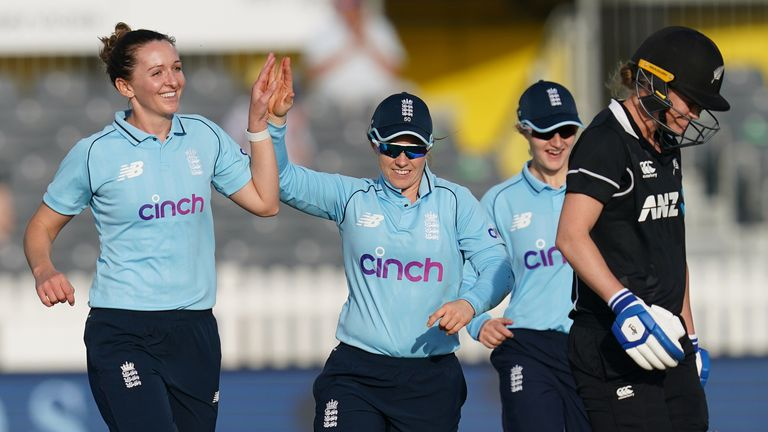 The best of the action from the first one-day international between England Women and New Zealand Women at Bristol