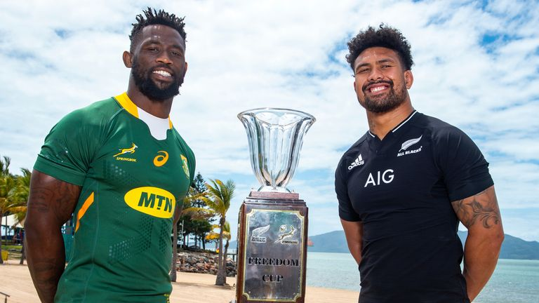 Siya Kolisi and Ardie Savea will captain South Africa and New Zealand on Saturday, live on Sky Sports