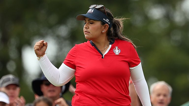 Lizette Salas was delighted to get a point on the board for USA