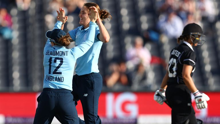 Nat Sciver took the new ball and claimed two early wickets