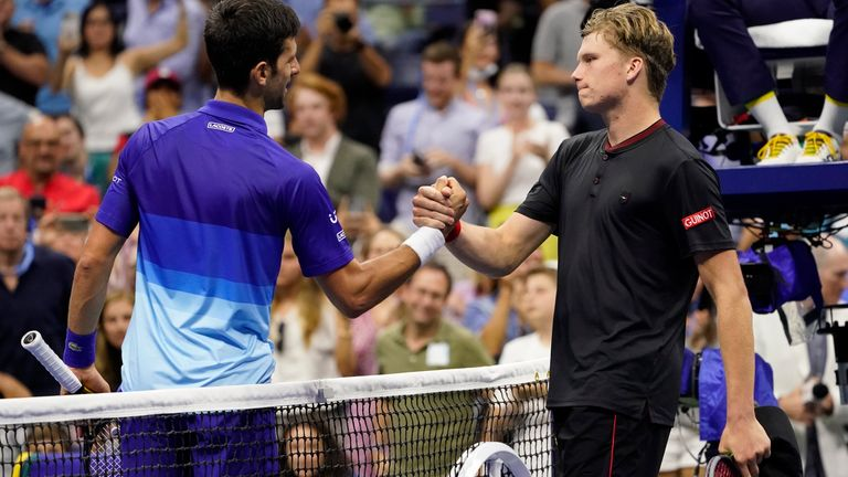 Jenson Brooksby was described by Novak Djokovic as having an 'all-round game'