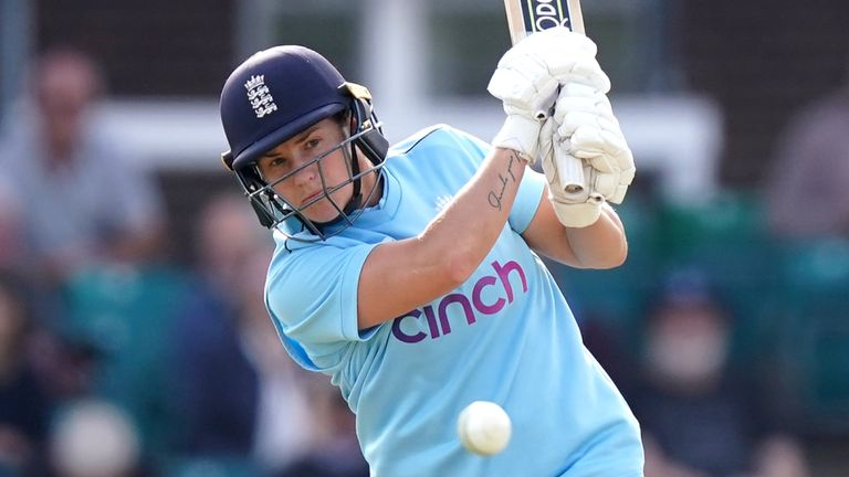 Katherine Brunt marshalled England's lower order as she ended up one run short of a half-century