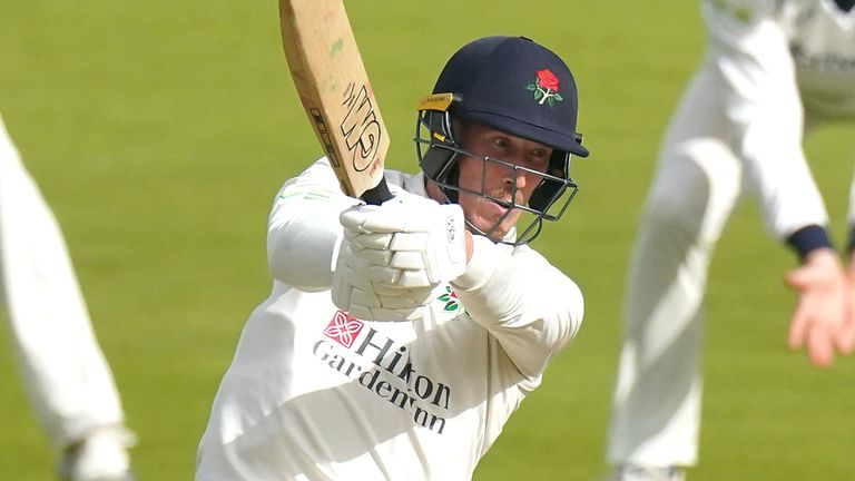 Luke Wood was left stranded on 46no after helping Lancashire avoid their lowest first-class total
