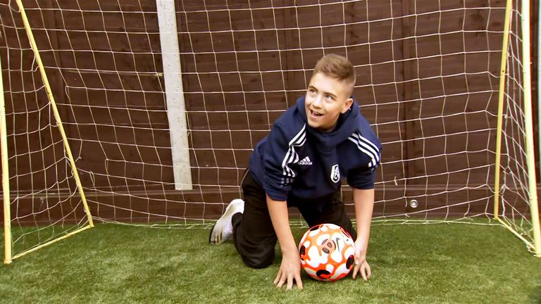 Rhys saved 20 shots a day during the Paralympics as part of his charity challenge