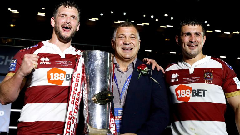 Sean O'Loughlin (left) and Shaun Wane (middle) have also been named as part of the new Wigan coaching structure