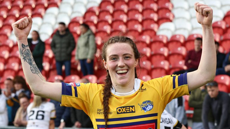 Sophie Nuttall's two tries helped Leeds secure a Grand Final place