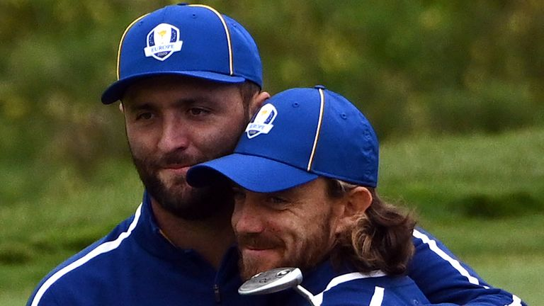 Fleetwood was in the same group as world No 1 Jon Rahm during Tuesday's practice round