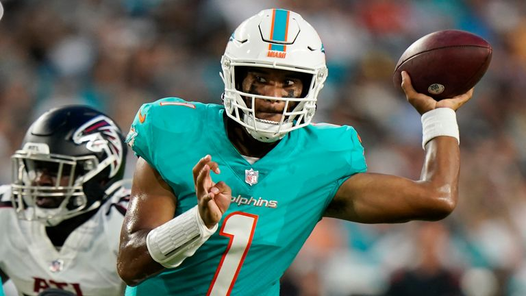Dolphins quarterback Tua Tagovailoa is poised for a second-year leap in Miami