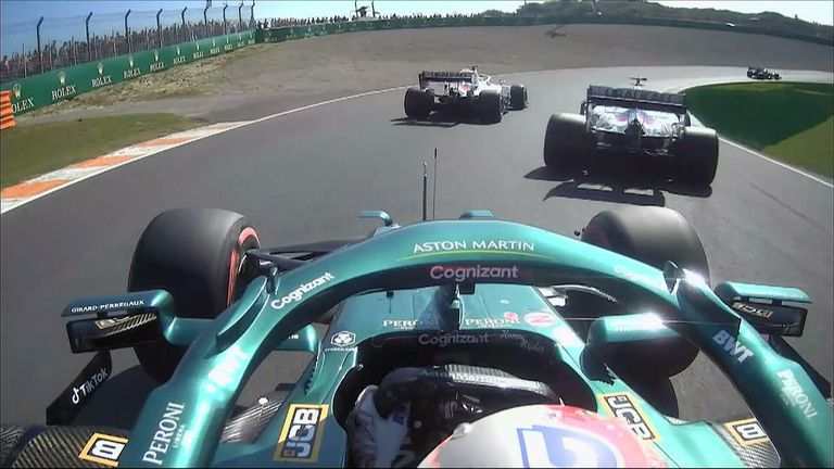 Sebastian Vettel failed to progress to Q2 after being held up by Haas' Nikita Mazepin.