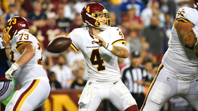 Washington quarterback Taylor Heinicke's best plays against the Giants during Week Two of the NFL 2021 season.