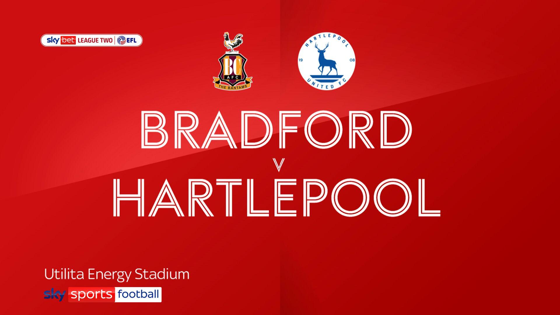 Hartlepool break away duck with win at Bradford