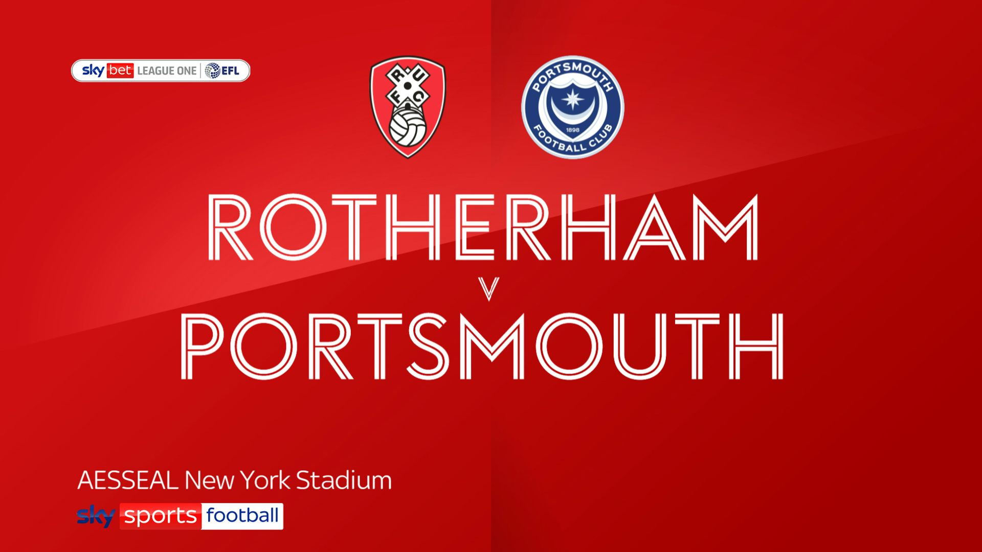 Rotherham romp to victory over Portsmouth