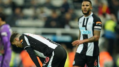 Newcastle react at full-time against Spurs