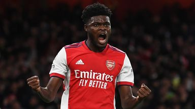 Image from Arsenal's 'midfield boss' Thomas Partey underlines his importance to Mikel Arteta's side in win over Aston Villa
