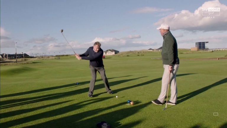 Shane Warne, Michael Vaughan, Piers Morgan and Jamie Redknapp were among the stars to take on the hickory golf challenge at St Andrews ahead of the Alfred Dunhill Links Championship!