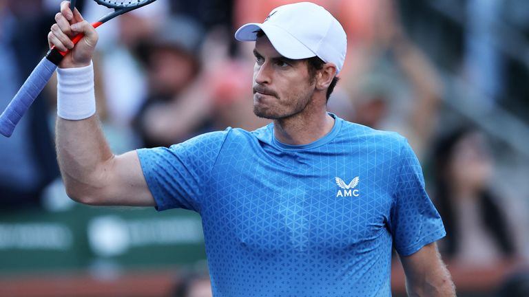 Andy Murray battled Alexander Zverev every step of the way before going down at the BNP Paribas Open in Indian Wells