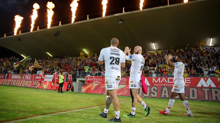 The Catalan fans came out with force to the semifinal of the Dragons Super League against Hull KR