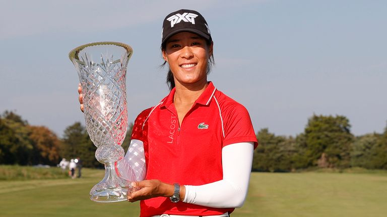 Celine Boutier with her second LPGA Tour title