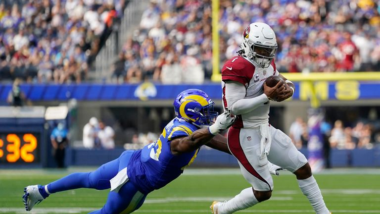 Highlights of the matchup between the Arizona Cardinals and L.A. Rams from Week Four of the 2021 season.