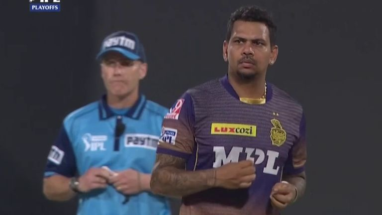 Narine finished with figures of 4-21 to restrict the Royal Challengers to 138-7