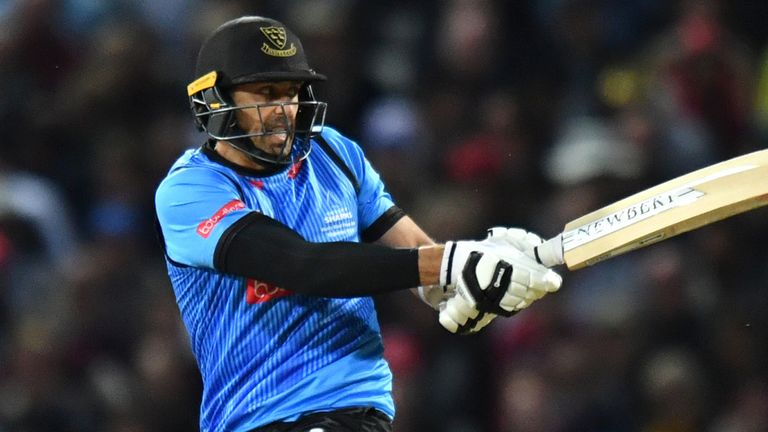 David Wiese in action for the Sussex Sharks' Final during the 2018 Vitality T20 Blast on final day.