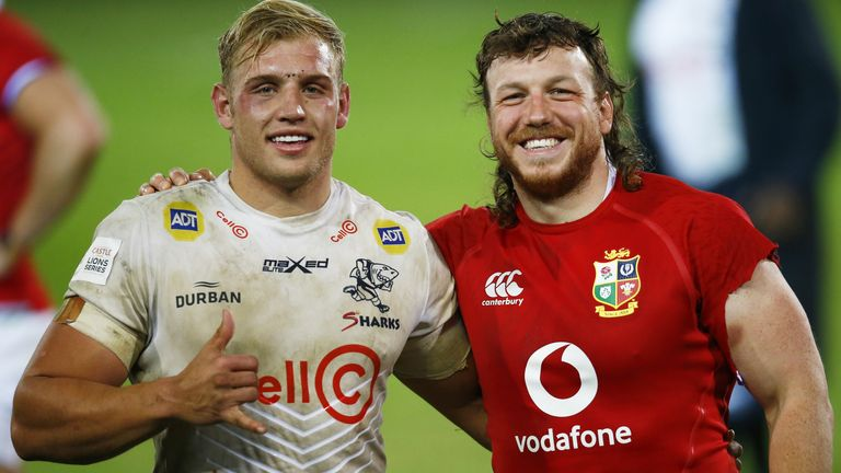 Richardson faced the British and Irish Lions and Scotland's Hamish Watson playing for the Sharks in the summer