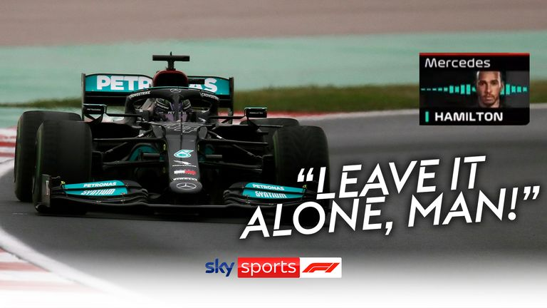 Lewis Hamilton shares his frustrations over team radio after losing places by changes tyres towards the end of the Turkish GP.
