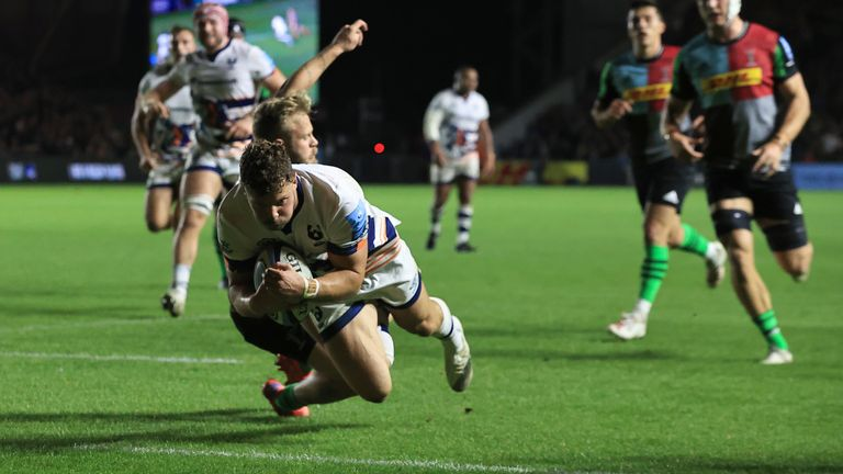 Henry Purdy scores for Bristol