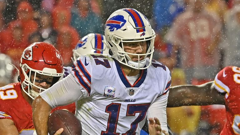 Buffalo Bills quarterback Josh Allen earned a first career win over the Kansas City Chiefs - at the third time of asking