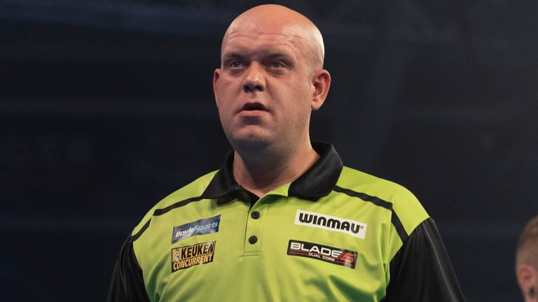 Michael van Gerwen was a number of seeded players dumped out of the World Grand Prix on Monday night