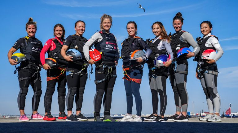 SailGP Women's Pathway Program選手たちは土曜日にレースをする予定です(画像クレジット:SailGPのBob Martin)