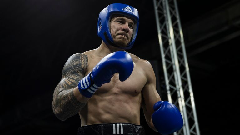 Sonny Bill Williams says he originally took up boxing to pay off a debt, but feels that the sport has 'lit a fire' under him