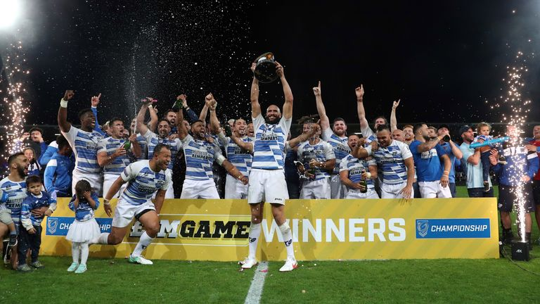 Highlights of the Million Pound game as Toulouse Olympique took on Featherstone Rovers for a place in Super League 2022