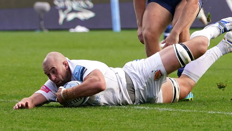 Will Witty got over for Exeter's third try of the match
